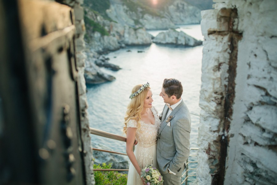 Wedding photographer in Skopelos Island Greece