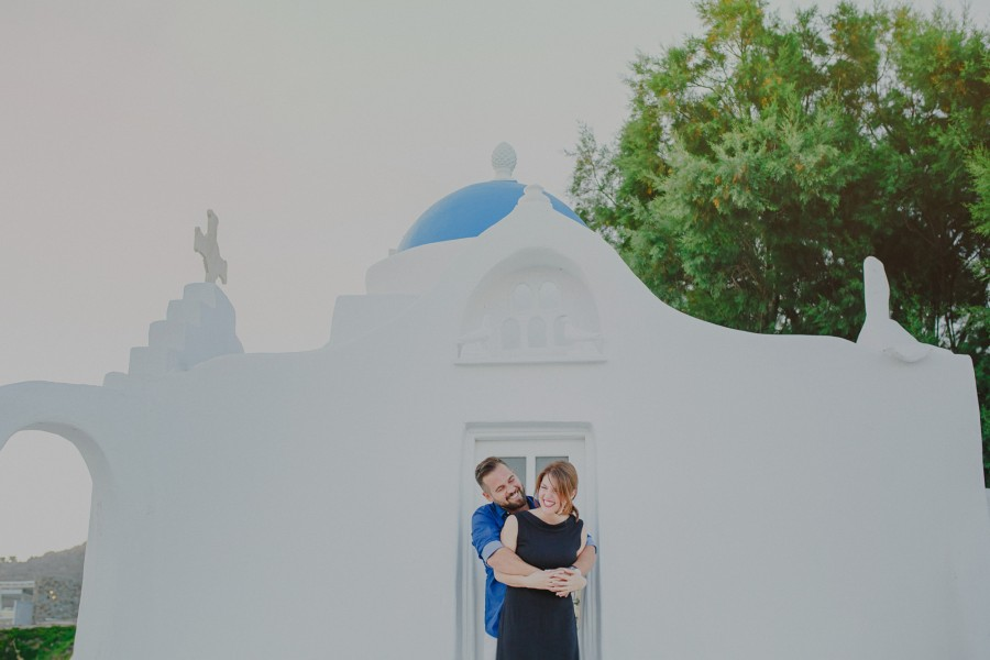 Greece  Mykonos pre-wedding photoshoot