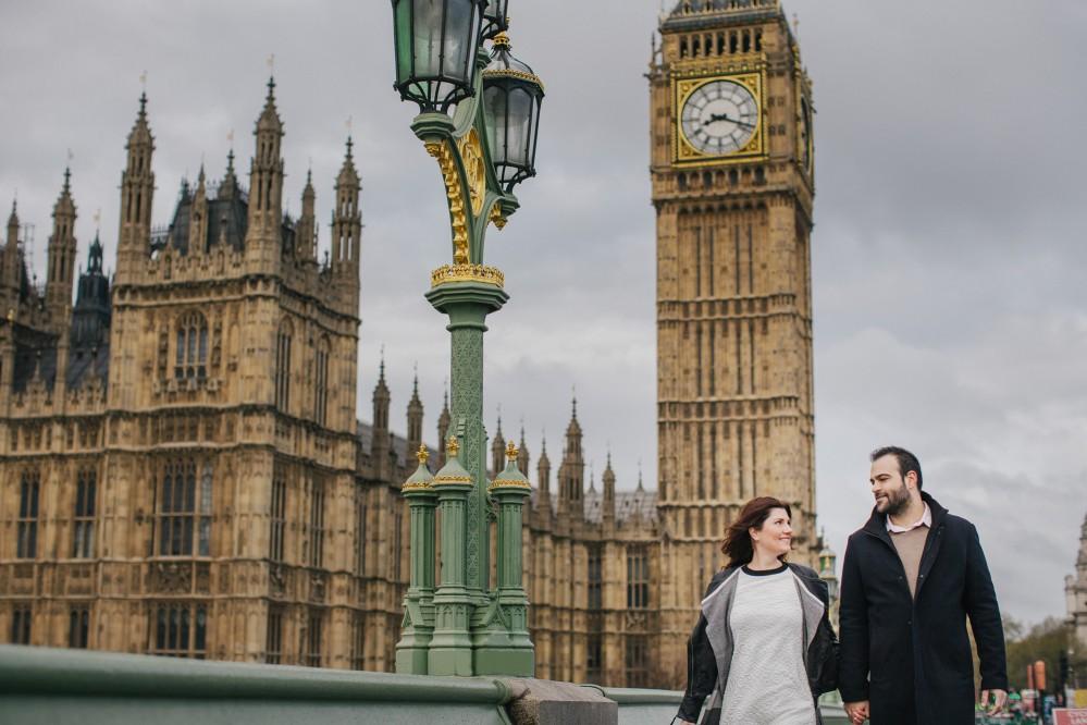Pre-Wedding photoshoot in London - Nafsika & Spyros