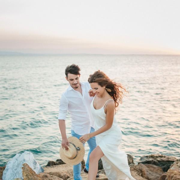 Romantic pre-wedding photography - Dimitris & Voula